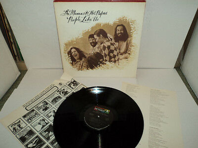 Mamas & The Papas People Like Us 1971 Dunhill Dsx 50106 & Lyric Notes Lp Nm / Ex