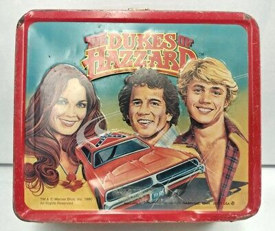 1980 DUKES OF HAZZARD Aladdin Metal Lunchbox With No Thermos General Lee