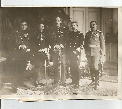 Ww1 Press Photo- Group Photo Of The Five Crown Princes Of The Balkan States