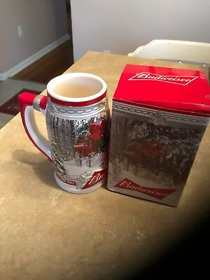 2017 Budweiser Holiday Stein in Holiday Themed Box