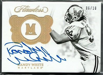 2018 Flawless Collegiate Randy White Auto Autograph #d 6/10 Maryland Terrapins