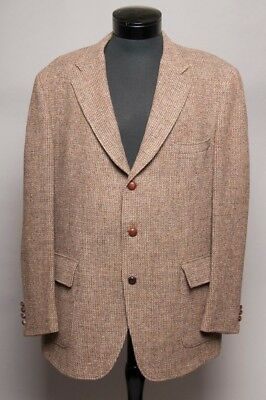 HARRIS TWEED C.H. Oliver Handwoven Scottish Wool Mens 3 Button Sport Coat Blazer