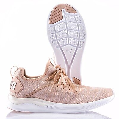 new concept 6fb3e ee8df PUMA IGNITE EVOKNIT Metal Lace Up Womens Mid Shoes Trainers ...