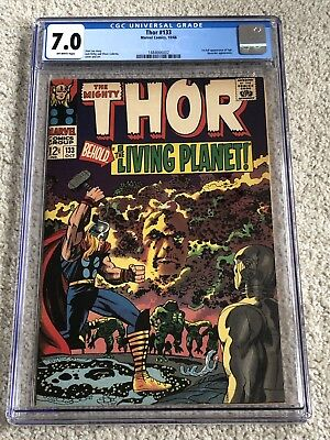 Thor #133 CGC 7.0 ow, 1st full appearance of Ego