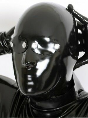 Sexy Black Latex Mask Rubber Hood Mask Gummi 0.4mm Wear for Party Unique