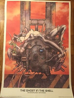 Vintage Ghost in the Shell Litho Masamune Shirow (1993) Limit to 1000 27 x 38 in