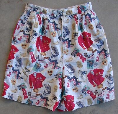 "Vintage Jean Bell High Waisted Travel ""Tourists"" Shorts  Women's Size 8"
