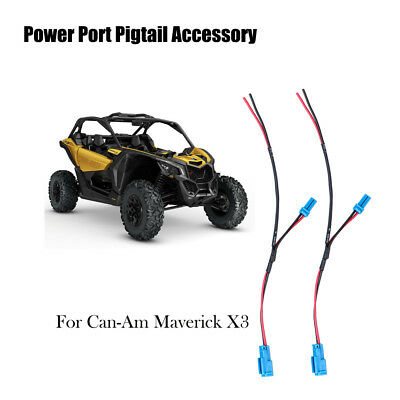 2pcs UTV Power Port Pigtail Wiring Accessory For Can-Am Maverick X3 Off-road