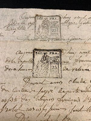 Lot Of Two Documents  1799