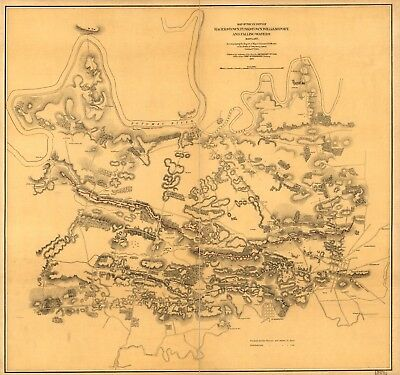 A4 Reprint of American Cities Towns States Map Maryland Virginia