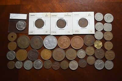 Lot of Old World Foreign Coins Mostly 1800s-1900s List #16