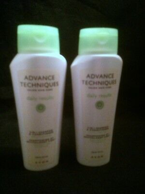 Avon Advance Techniques Daily Results Lot Of (2)  2-In-1 Shampoo/conditioner