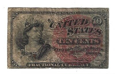 Fourth Issue Act of March 3, 1863, 10¢ Ten Cent U.S. Fractional Currency Note