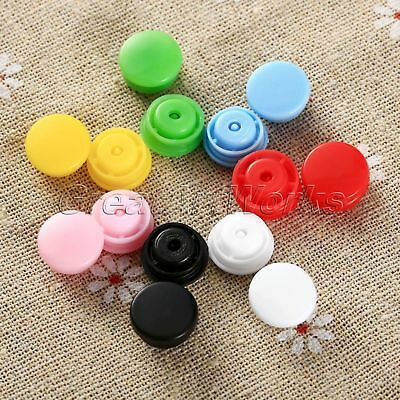 Lots 7 Color DIY Resin Snaps Buttons White Size T5 For Baby Clothes Diapers Bibs