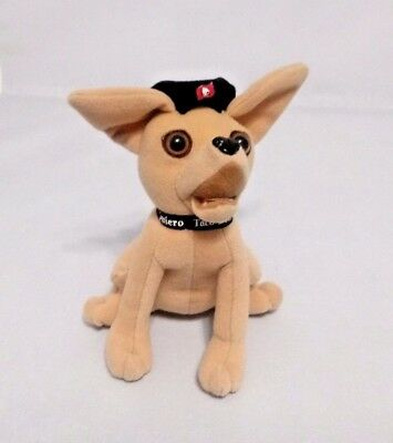 "Applause TACO BELL Talking Chihuahua Dog says ""VIVA GORDITAS"" 6"" tall VGUC"