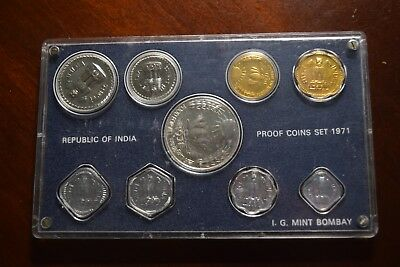 1971 Republic of India 9 coin proof set