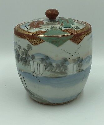 Antique Chinese Japanese Asian Colorful Porcelain Large Covered Ginger Jar?