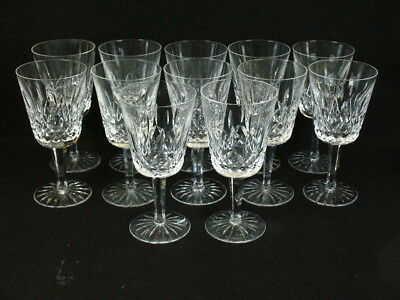 """Waterford Crystal 12 Lismore Water Goblets 6 7/8"""""""