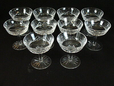 """Set Of 10 Waterford Crystal Lismore Champagne Sherbet Glass 5 7/8"""" T"""