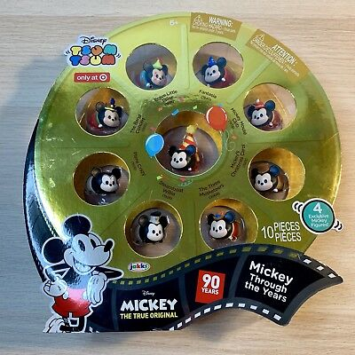 Disney Mickey Mouse 90th Birthday Tsum Tsum Set Target Exclusive Anniversary NEW