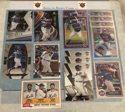 2018 DOMINIC SMITH Rookie RC Lot x 15 | Finest | Topps Chrome | Optic Purple SP