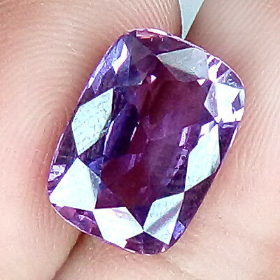 9.10 Cts Flashing Loupe Unique Shade Seductive Violet Natural Sapphire