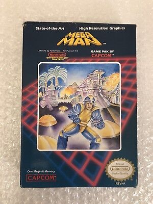 Mega Man 1 (Nintendo, NES) Box only. Includes sleeve & foam. Rare. Authentic!