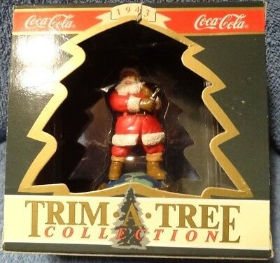 """Vintage Coca-Cola Trim A Tree Collection """"Travel Refreshed"""" ornament MIB"""