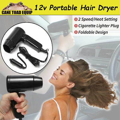 NEW 12V Car Hair Dryer Compact Travelling Festival Camping Portable Caravan AU