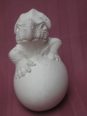 Ceramic Bisque Triceratops Hatchling Dinasaur Ready To Paint