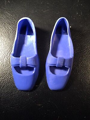 Rare Vintage IDEAL CRISSY FAMILY DOLL Royal Blue Shoes 70's Grow Hair HTF Color