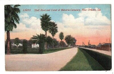 New Orleans, La. - Shell Road & Canal At Metairie Cemetery - 1915