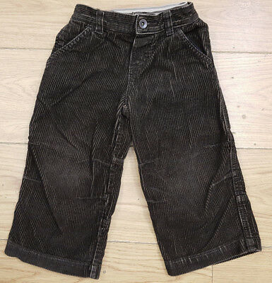 JOHN LEWIS baby boys brown corduroy baggy jeans age 18-24 months