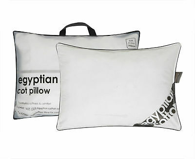 2X Luxury Egyptian Cot Pillow Cotton Comfort Hotel Quality Hollow Fibre Filling