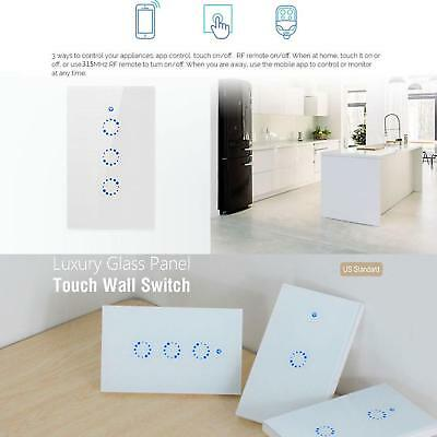 US 1/2/3 Gang Smart Touch Light Switch WiFi RF APP Remote Control AU Stock