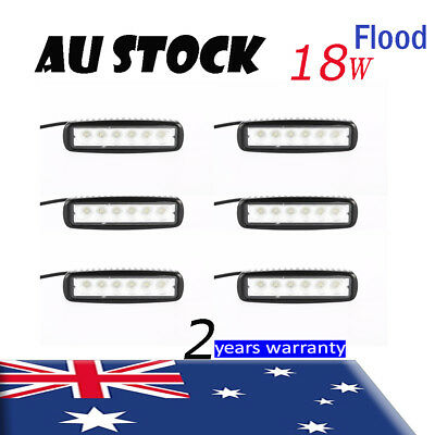 6 x 6' Inch 18W LED WORK LIGHT BAR FLOOD DRIVING OFFROAD TRUCK 4WD 4x4 UTE