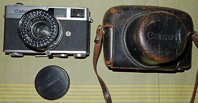 CASED CANON CANONET 35mm RANGEFINDER FILM CAMERA for SPARES/REPAIR/DISPLAY