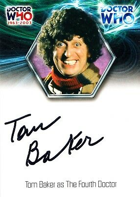 2003 Strictly Ink Doctor Who Tom Baker 4th Dr 40th Anniversary Autograph Card
