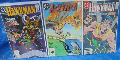 DC Comics Hawkman 1986 Series Lot # 13 15 17 Hawks Come Home Winged Warrior