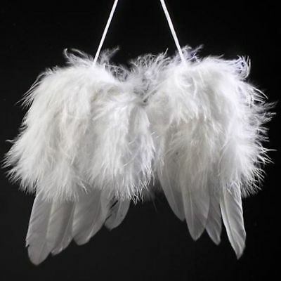 Christmas Tree Ornaments 20XFeather Angel Wings Christmas Tree Hanging Wedding Decor Photography Props SN Christmas Decorations & Trees