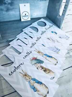 *sale*  Peter Rabbit - 6 Baby Wardrobe Dividers / Organisers - Baby Shower Gift