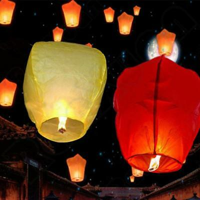 5Pcs Chinese Flying Lanterns Fire KongMing Light Wishing Lamp Wedding Party