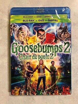 Goosebumps 2 Blu Ray & DVD w Slip Cover Canada Bilingual LOOK RL Stine