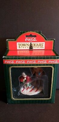 Coca-Cola Town Square Collection Skiiers #64334 1996