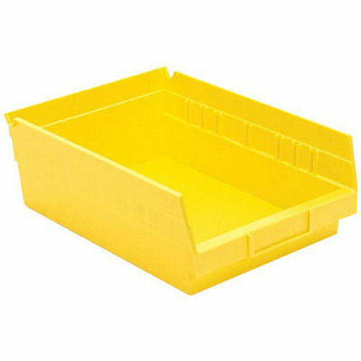 "AKRO-MILS Small Parts Shelf Bins - 8-3/8x11-5/8x4"" - Yellow, Lot of 12"