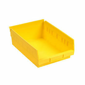 "Akro-Mils 30184 Plastic Shelf Bin Nestable - 8-3/8""W x 23-5/8""D x 4""H Yellow,"