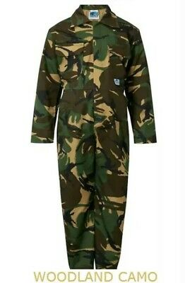 + Blue Castle Tearaway Junior Woodland Camo Coverall Overall Boiler Suit  5:43