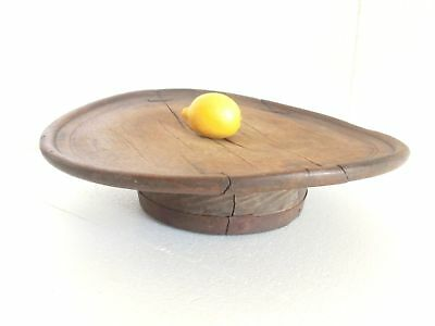 1800's ANTIQUE Ottoman Turkish Low Round PRIMITIVE Dining Wooden Rustic Table