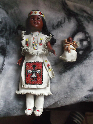 Indianer  Cherokees Reservation Puppe