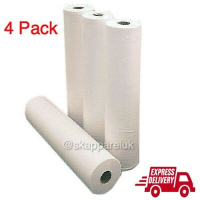 4 Pack Premium Quality White Hygiene Couch Rolls 40m x 50m - Same Day Dispatch